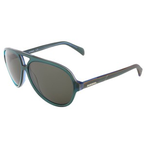 Diesel Diesel Clear Teal Teardrop Aviator sunglasses