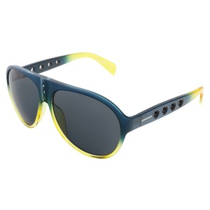 Diesel Diesel Teal and Yellow Gradient Aviator sunglasses