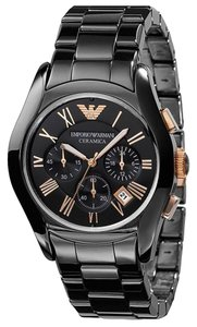 Emporio Armani New Authentic Emporio Armani Men's AR1410 Ceramic Black Chrono Watch