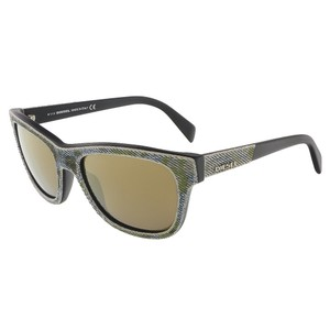 Diesel Diesel Camoflague Green/Blue Denim Wayfarer sunglasses