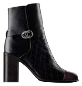 Chanel black and brown Boots