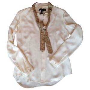 Ralph Lauren New With Tag Jeweled Top Cream
