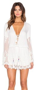 Young Fabulous & Broke Romper Lace Tassel Knit Dress