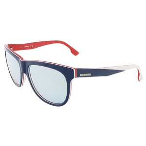 Diesel Diesel Navy Blue/White&Red Wayfarer sunglasses