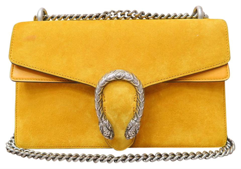 dd17631bd Gucci Dionysus Supreme Yellow Calfskin Shoulder Bag - Tradesy