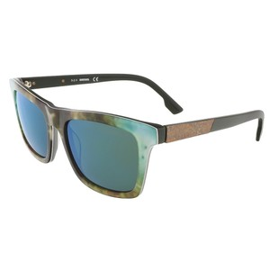Diesel Diesel Green/Blue Camoflague Rectangular sunglasses