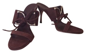 Gucci Suede Horsebit Brown Sandals