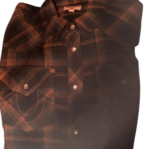 True Religion Men Button Down Shirt