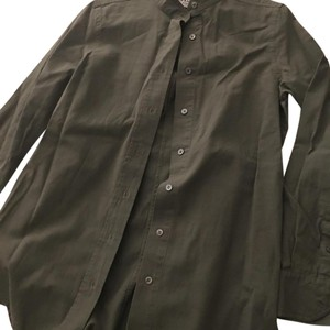Frame Denim Button Down Shirt Olive/Army Green