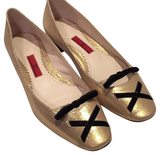 Carolina Herrera Gold B44679 Flats Size US 8 Regular (M, B) Carolina Herrera Gold B44679 Flats Size US 8 Regular (M, B) Image 1