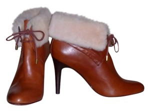 Coach Leather Shearling Cinnamon/Natural Boots