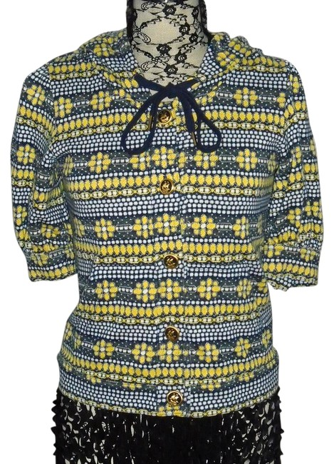 Preload https://img-static.tradesy.com/item/20559478/juicy-couture-blue-yellow-and-white-pepin-print-34-sleeve-button-up-hoodie-blouse-size-8-m-0-1-650-650.jpg