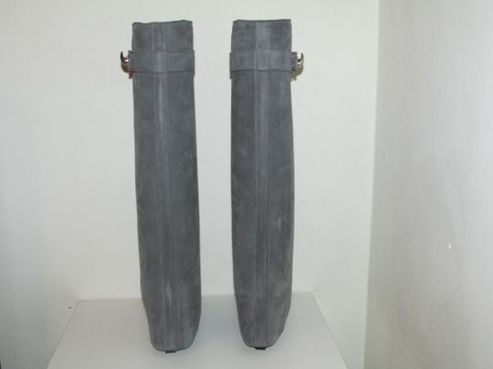 Givenchy Grey Suede Shark Lock Boots Image 6