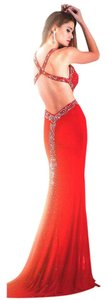 Jasz Couture Sequin Beading Split Dress