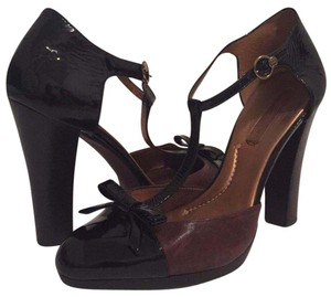 BCBGMAXAZRIA Black & Brown Platforms