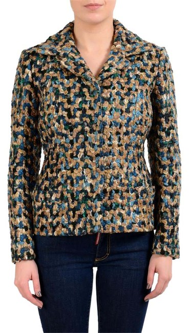 Item - Multi-color 1 Women's Wool Three Button Jacket Size 4 (S)