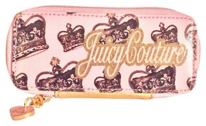 Juicy Couture vintage juicy couture makeup brush holder zip around organizer wallet