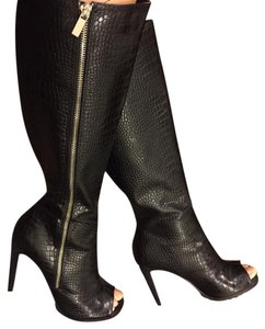 Paper Fox Black Snake Patterned Boots