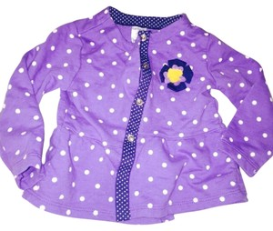 Carter's purple with white polka dots Jacket