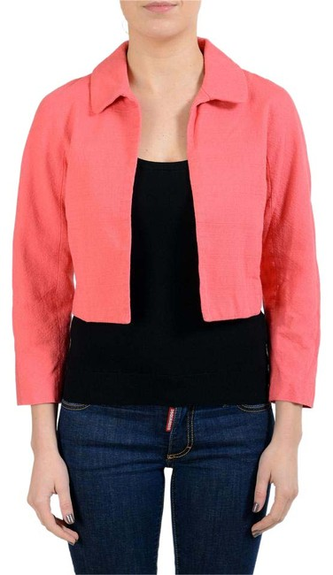 Item - Pink Women's Buttonless Cropped Jacket Size 4 (S)