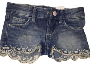 H&M Mini/Short Shorts jean shorts with white heart trimming