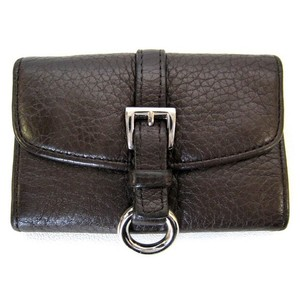 Prada Brown Cervo Leather 6 Key Holder