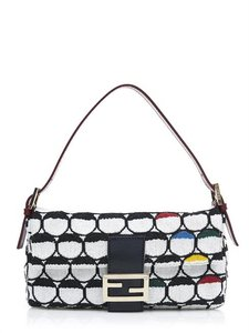 Fendi Sale And Black & White Clutch