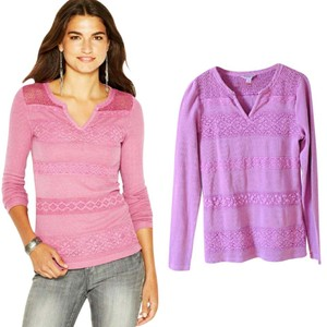 Lucky Brand Top Red Violet