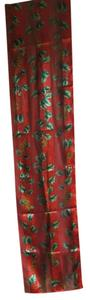 Echo ECHO Red green holly polyester scarf