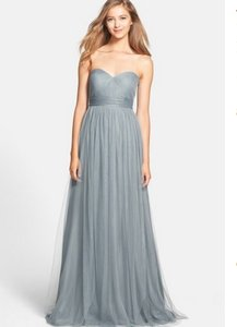92774365e818 Jenny Yoo Mayan Blue Soft Tulle Annabelle - 1452 Feminine Bridesmaid/Mob  Dress Size 0