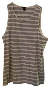 J.Crew Top white and gray striped