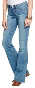 Free People Flare Leg Jeans-Medium Wash