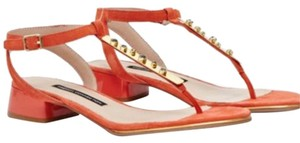 French Connection orange Sandals
