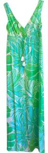 Green Sheen Fronds Place Maxi Dress by Lilly Pulitzer Blue Maxi