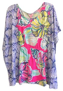 Lilly Pulitzer Comfortable Top Royal Pink Swept By The Tides