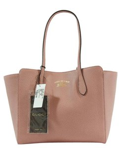 Gucci 354408 Swing Leather Tote in Pink