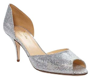 Kate Spade Glitter Formal Heel silver Pumps