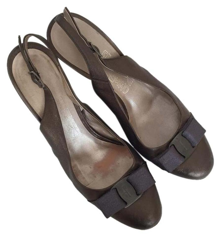 salvatore ferragamo slingback olive navy pumps on sale 86 off pumps on sale. Black Bedroom Furniture Sets. Home Design Ideas