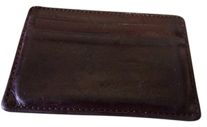 Coach Leather Money Clip-Card Holder