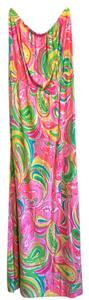 Multi All Nighter Maxi Dress by Lilly Pulitzer Pink Marlisa Strapless Maxi