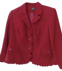 Kim Rogers Ruffle New Woman Red Blazer