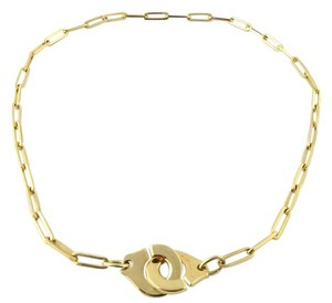 Dinh Van Dinh Van 18K Yellow Gold Menottes Handcuffs Link Necklace