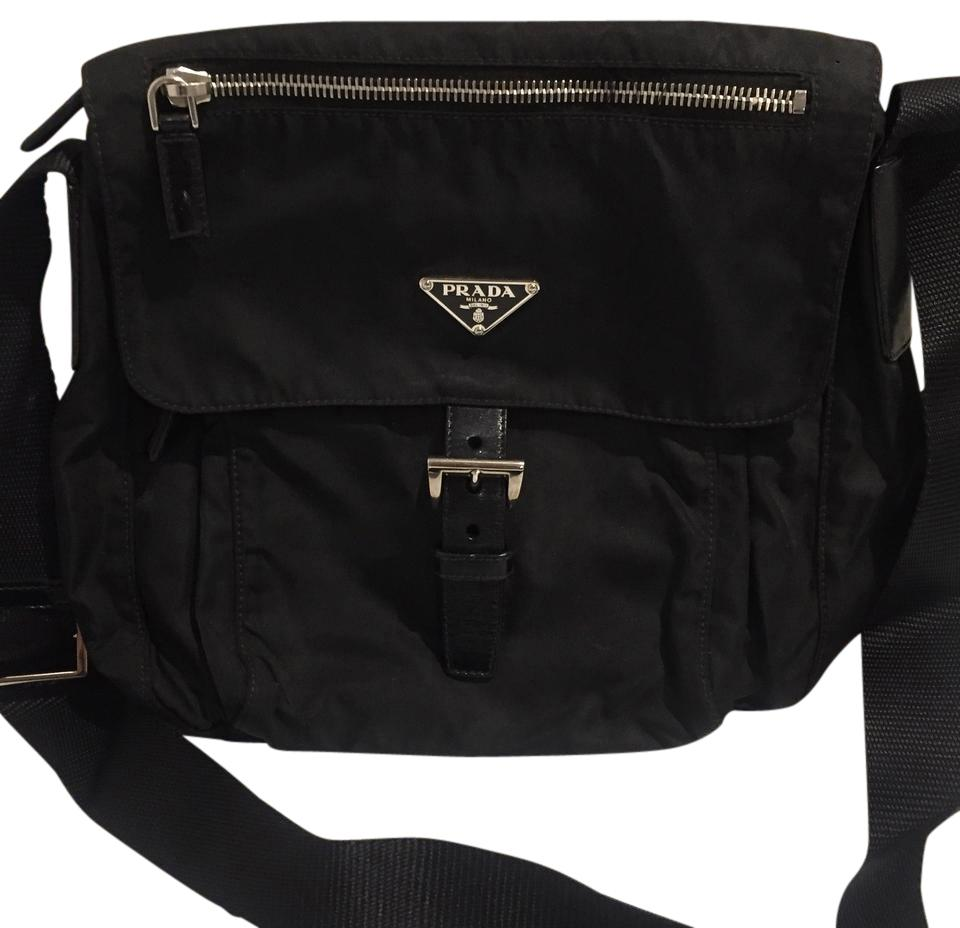 18e6c3cd599b Prada Small Vela Hunting Nero (Black) Nylon Cross Body Bag - Tradesy
