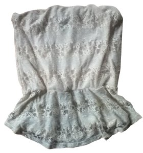 Other Lace Floral Peplum ivory Halter Top