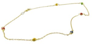 Aaron Basha Aaron Basha 18k Yellow Gold Enamel Ladybug Necklace 16.5