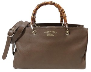 Gucci Bamboo New Satchel Tote in Brown