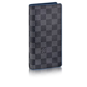 Louis Vuitton NEW! Louis Vuitton Damier Graphite Brazza Wallet 16 Slot Card Holder N63266