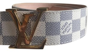 Louis Vuitton Louis Vuitton Damier Azur Belt Initials size 80/32