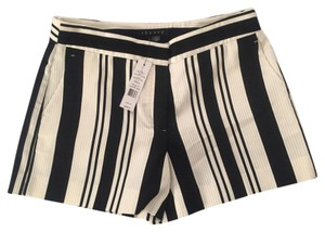 Theory Striped Dress Shorts black and white