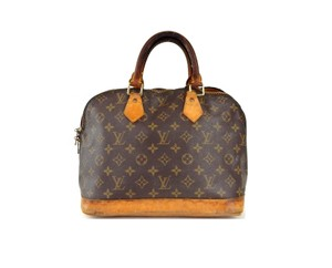 Louis Vuitton Alma Monogram Totes Satchel in Brown